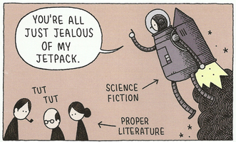 Страница из You're All Just Jealous of My Jetpack