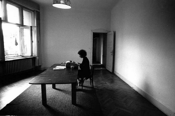 Margaret writing The Handmaid's Tale, Berlin, 1984