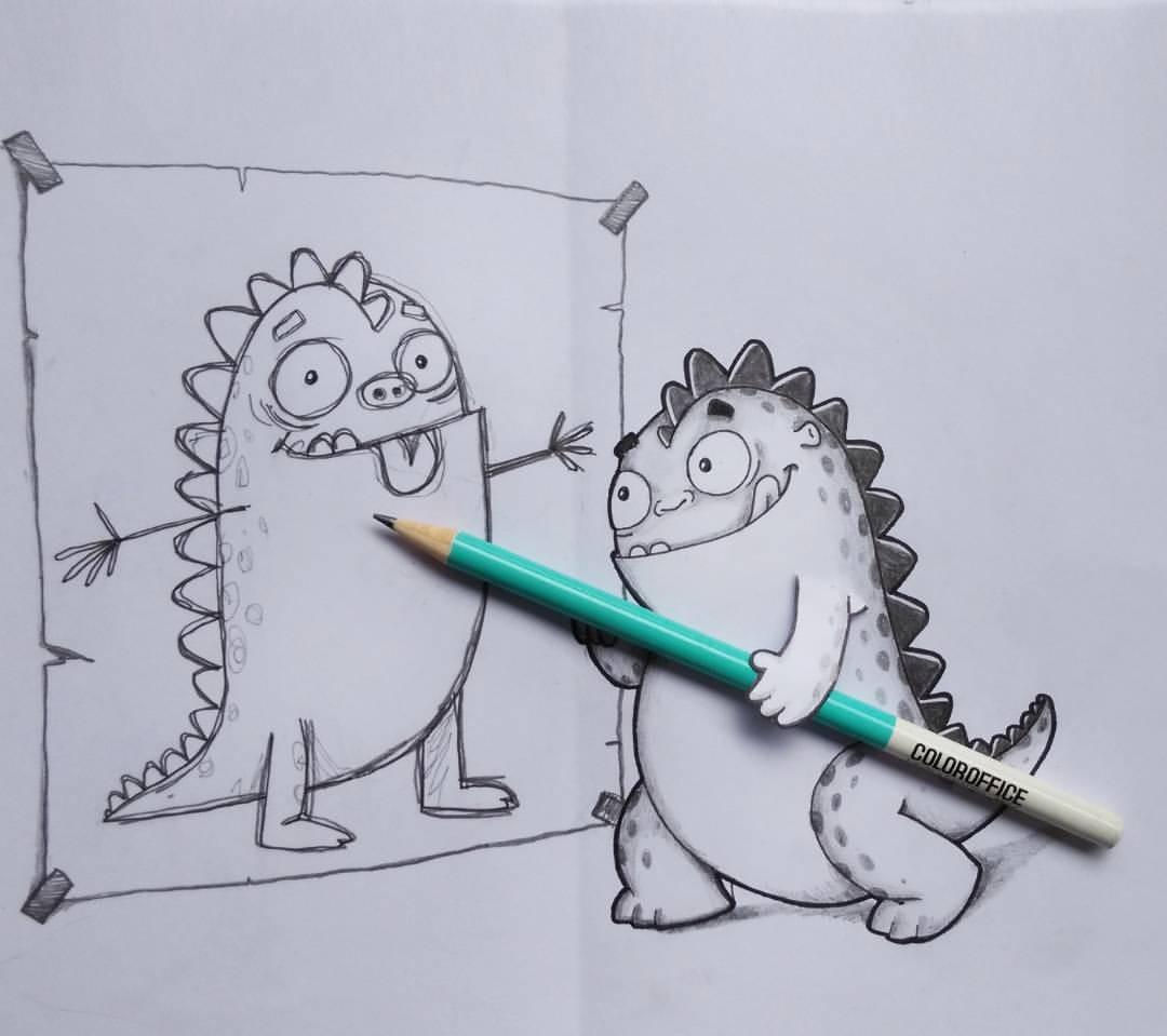Самый прикольный рисунок карандашом, анимацией для