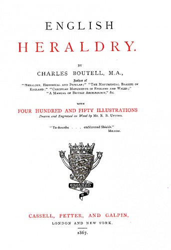 """English heraldry"" by Charles Boutell"