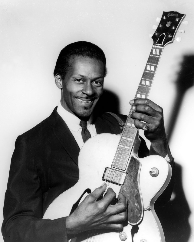 Chuck berry was among the first musicians to be inducted into the rock and roll hall of fame when it opened in 1986
